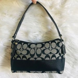 Coach Signature C Fabric Black Small Handbag
